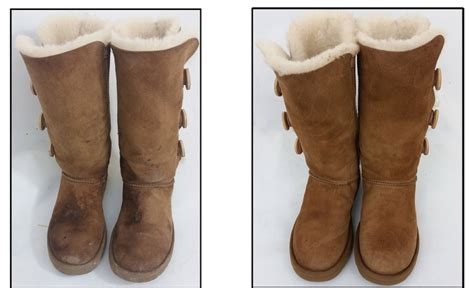 clean uggs before and after