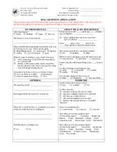 pet adoption application template pet adoption certificate forms and templates fillable