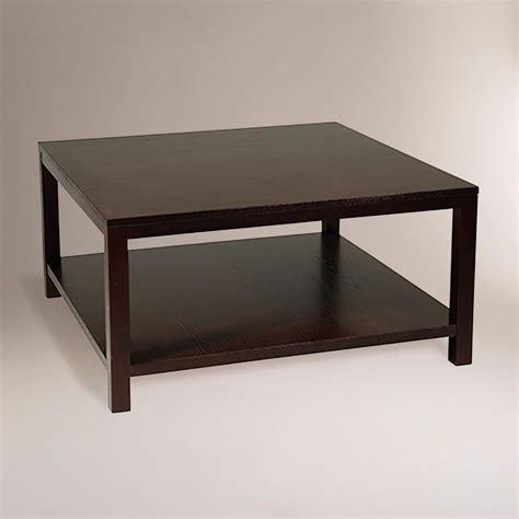 Square Espresso Coffee Table Square Porter Coffee Table World Market
