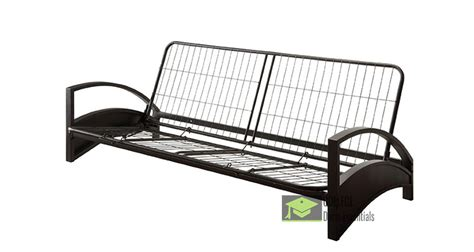 Metal Futon Frame Parts by Sized Metal Futon Frame With Arm Rest