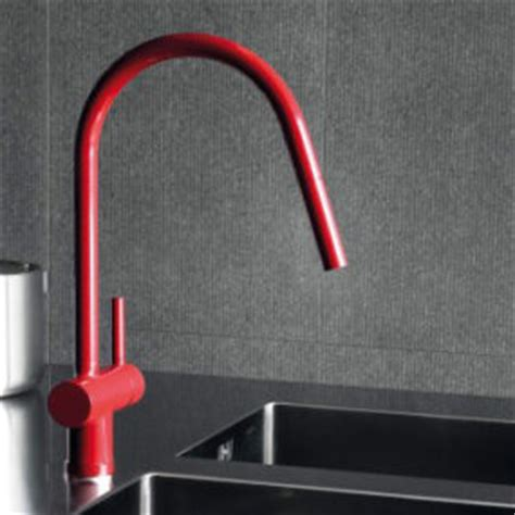 red kitchen faucet red freestanding faucet by zucchetti