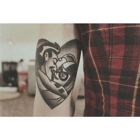 batman tattoo couple on point tattoo ideas featuring the jokeronpoint tattoos