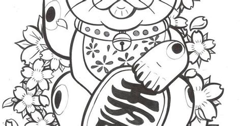 lucky cat coloring page lucky cat coloring pages google search my style