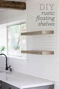 Jenna sue kitchen chronicles diy floating rustic shelves