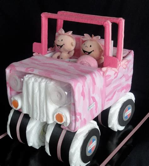 jeep cake tutorial jeep diaper cake www facebook com diapercakesbydiana