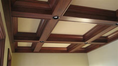 lights in ceiling beams coffered ceiling box beam ceilings pinterest