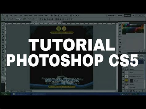 tutorial photoshop cs5 membuat poster tutorial photoshop cs5 membuat twibbon youtube