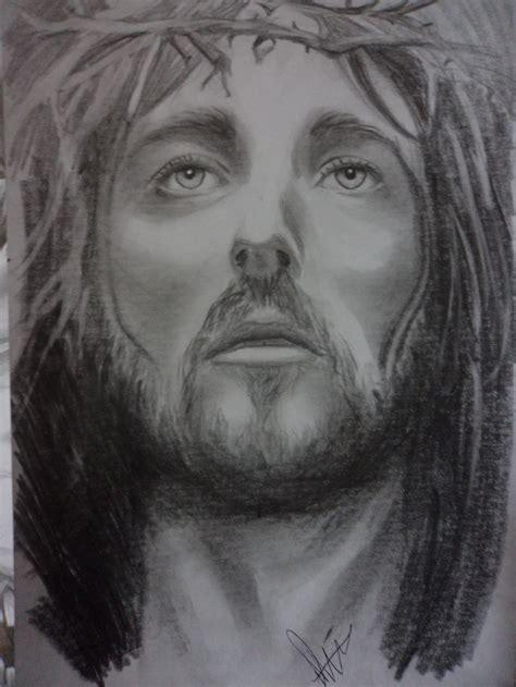 imagenes a lapiz del rostro de jesus mi dibujo de jesus arte taringa