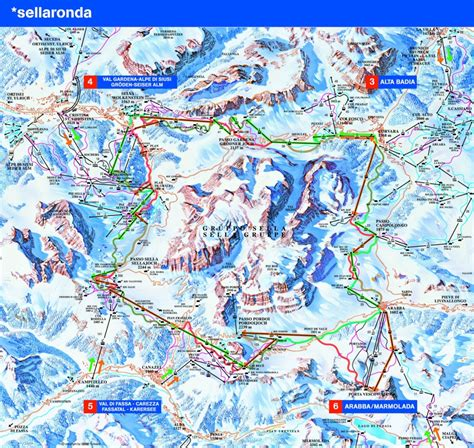 French Apartments by Canazei Piste Map Canazei Trail Amp Ski Area Map Val Di