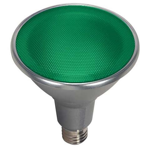 par38 green led flood light satco s9481 14 95 15par38 led 40 176 green 120v 15w led