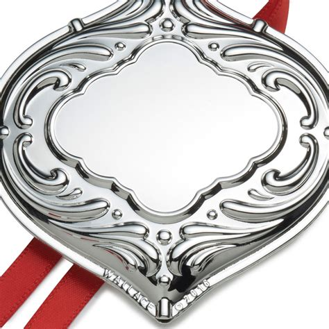 wallace silver engravable ornament christmas bauble 2016