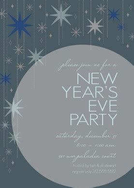 Printable New Year S Eve Star Invitation Template New Year Invitation Template