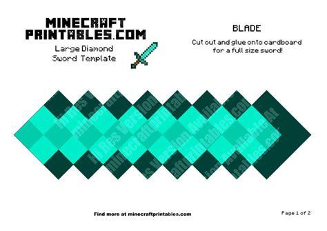 diamond sword printable minecraft diamond sword