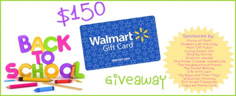 Walmart E Gift Cards Canada - 150 walmart giftcard giveaway back to school