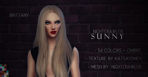 my sims 4 blog nightcrawler my sims 4 blog nightcrawler sunny hair retexture by brittany
