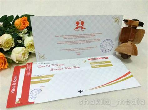 Undangan Ultah Tema Tiket Pesawat undangan tiket pesawat shakila media