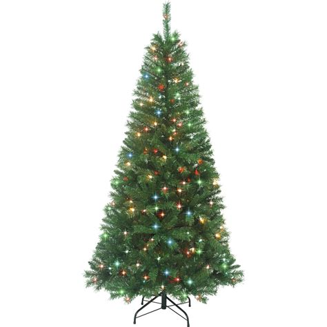 starlite 6 ft pre lit alpine fir christmas tree trees
