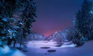 Northern Lights In Michigan Fond 233 Cran Hd Paysage Hiver For 234 T Lac Gel 233 Nuit Arbre