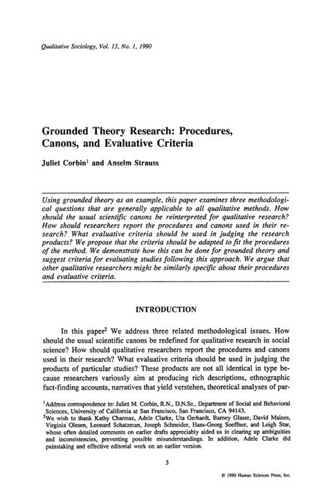 procedure in research paper corbin strauss grounded theory procedures qualitative