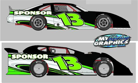 Modified Clip by Dirt Modified Race Car Of S Modified Wraps Clipart Kid