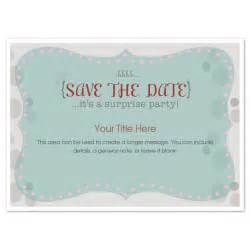 surprise party save the date invitations amp cards on