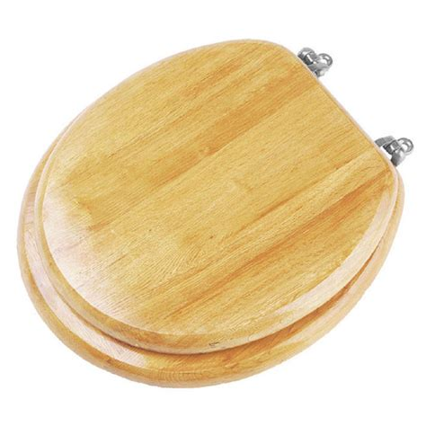 solid wood toilet seats solid wood pine toilet seat with chrome effect hinges