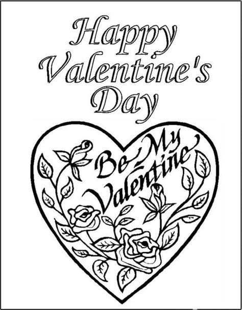 valentines day coloring cards printable coloring printable valentines day cards coloring pages