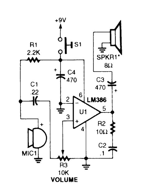 microphone lifier circuit diagram project alarms
