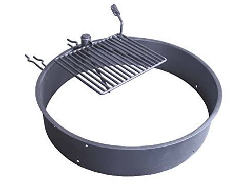pit ring with grill 36 steel ring with cooking grate cfire pit park grill bbq cing trail best prices