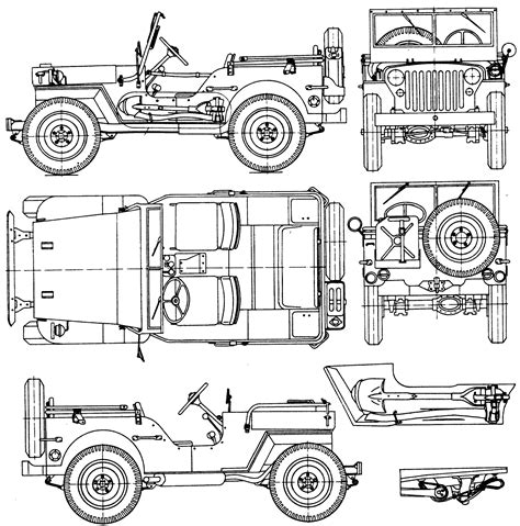 jeep drawing willys mb jeep blueprint download free blueprint for 3d