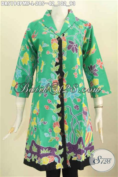 Baju Wanita Kekinian Blus Navila Dr Blouse Wanita Spandex Hitam baju batik hijau bunga bunga pakaian batik kerah langsung berbahan halus proses kombinasi tulis