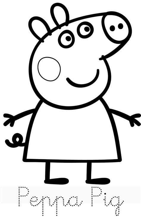 colouring pictures of peppa pig and george peppa pig coloring pages bestofcoloring com