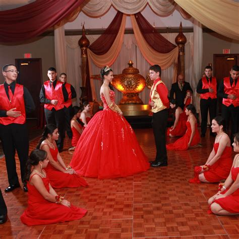 quinceanera themes for color red quinceanera