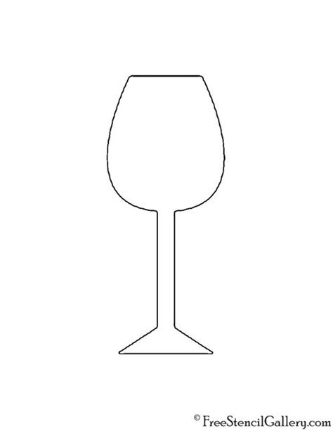 printable glass stencils wine glass stencil free stencil gallery