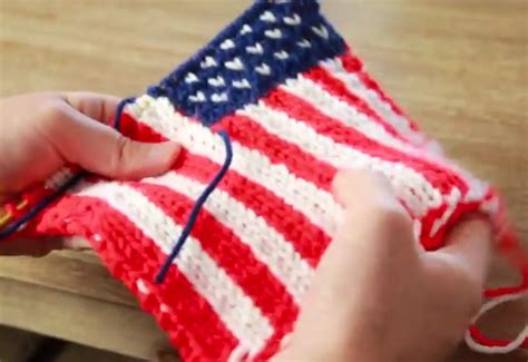 who knitted the american flag how to knit an american flag knitting