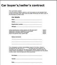 Used Vehicle Sales Agreement Template Car Sale Contract Template Free Sample Templates