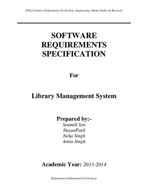 engineering proposal template software requirements specification of library management