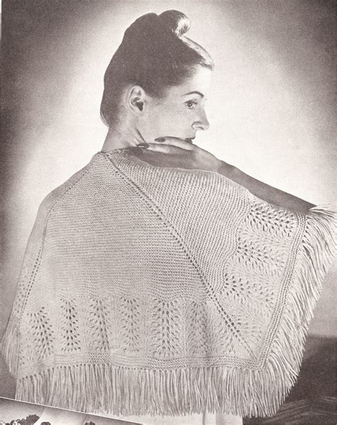 vintage lace knitting patterns vintage antique knitted lace shawl cape knit pattern