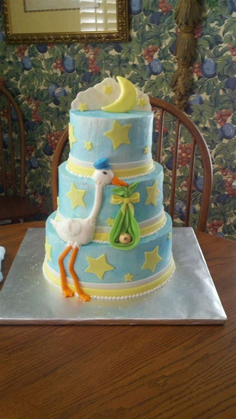 stork themed baby shower decorations baby shower cakes stork baby shower cake ideas