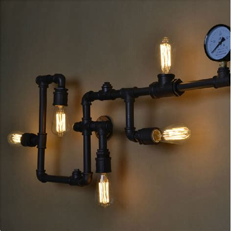 Vintage Bedroom Lighting Fixtures New Year Creative Wall L Ancient Water Pipe Sconce
