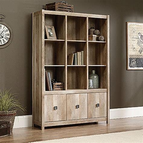 sauder salt oak bookcase sauder barrister lane salt oak open bookcase 414108 the