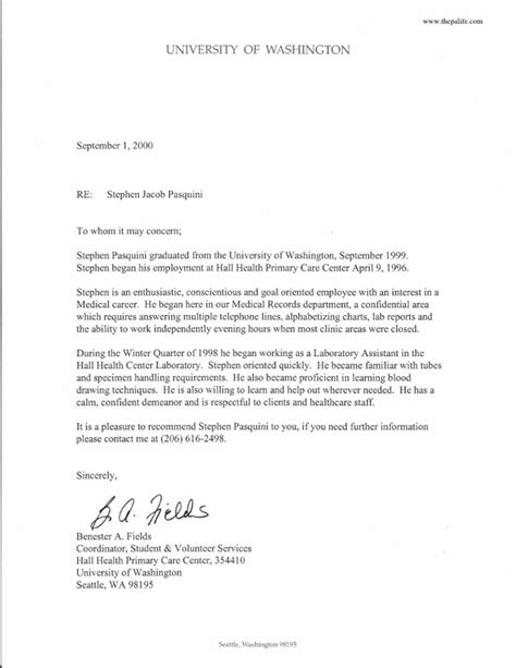 reference letter for a doctor letter of recommendation
