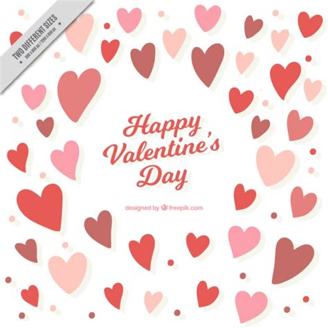 valentines background with hearts and circles vector