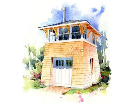tower house plan this small floor plan above a single car garage is a