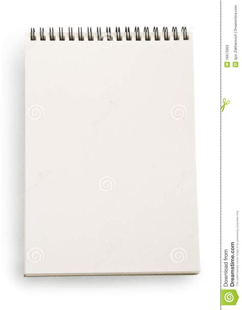 white notebook stock image image of note office