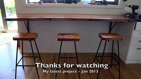 Kitchen Island Drop Leaf rimu breakfast bar and stools project jan 2014 youtube
