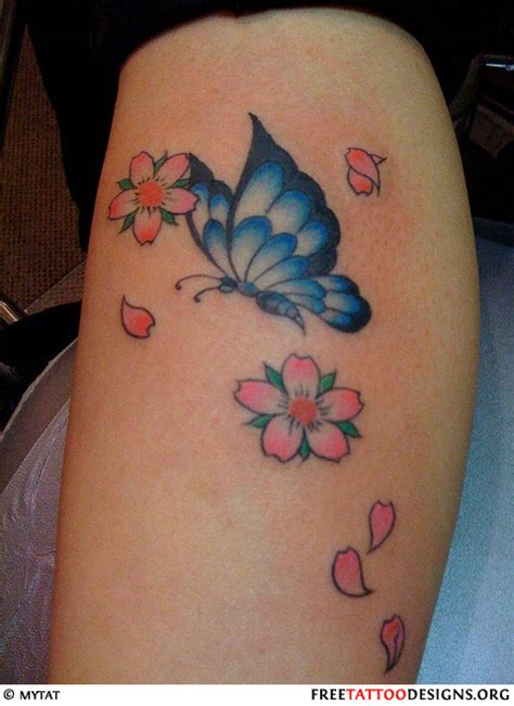 cherry blossom and butterfly tattoo designs butterfly gallery