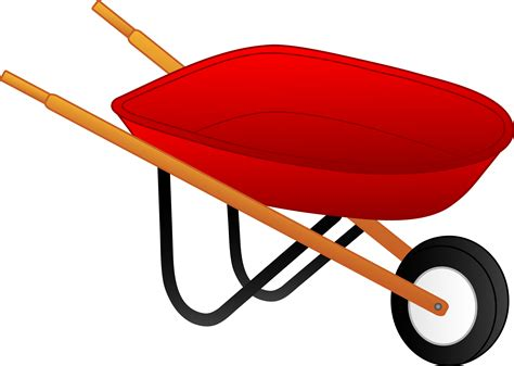 wheelbarrow clipart in person with wheelbarrow clipart