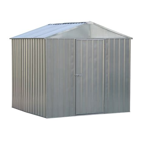 qiq fix 2 3 x 2 3 x 1 9m zinc garden shed bunnings warehouse