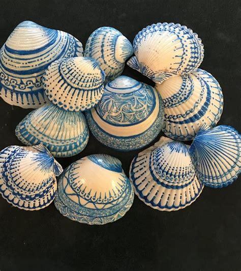 Polymer Clay Home Decor painting seashells